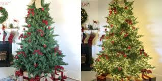 color changing christmas trees alternate between white or colored