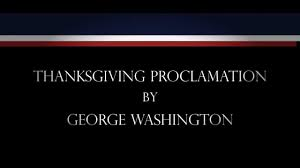 thanksgiving proclamation by george washington