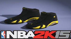 jordan ferrari black and yellow nba 2k15 next gen shoes air jordan 14 thunder youtube