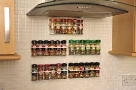 kitchen interesting ideas using silver stainless steel hanging impressive hanging wall spice rack for kitchen wall decoration design ideas outstanding kitchen wall decorating