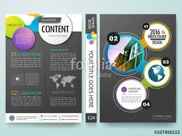 circle layout vector vector brochure magazine modern flyers cover report design templates