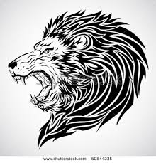 vector image red tiger tattoo stock vector 43917130 shutterstock