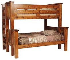 Rustic Bunk Bed Rustic Wood Bunk Bed Kitchen Dining