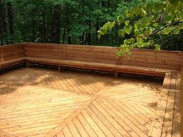 deck w bench seating repinned by normoe the backyard guy 1