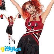 Zombie Cheerleader Costume Zombie Cheerleader Costume Womens Ladies Schoolgirl Halloween