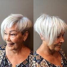 asymmetrical haircuts for women over 40 with fine har 60 gorgeous hairstyles for gray hair