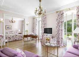 Chic Home Interiors by Interior Chic Home Interior Design With Cozy Purple Sofa And