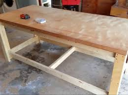 Woodworking Bench Top Surface by How To Build A Sturdy Workbench Inexpensively 5 Steps With Pictures