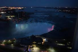 niagara falls light show night light show at canadian falls picture of embassy suites by