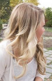 brown and blonde ombre with a line hair cut blonde ombre so my natural color can grow in without there being