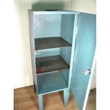 Vintage Blue Cabinets Painted Metal Cabinet Vintage Industrial Shabby Turquoise