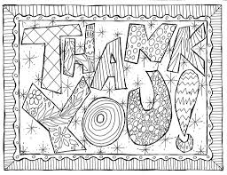 coloring pages of thank you cards coloring pages of thank you