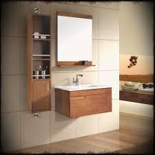 modern oak bathroom sink vanity units featuring brown laminated