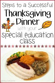 how to host a thanksgiving feast with your special education class