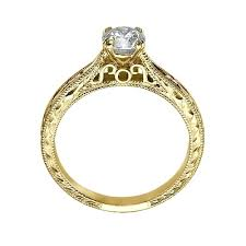 engagement ring engravings solitaire engraved engagement ring in 14k yellow gold couplez