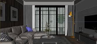 panorama scandinavian style living room restaurant space 18 3d
