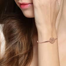 monogram initial bracelet online shop engravable monogram bangle bracelet gold color