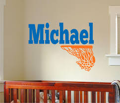 Nursery Name Wall Decals by Name Wall Decal Name With Basketball Boys Name Wall Decal