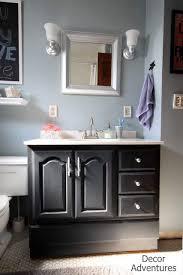 Diy Bathroom Vanity Makeover by Bathroom Vanity Makeover Decor Adventures