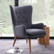 Single Living Room Chairs Best Single Chairs For Living Room Niels Upholstered Wing Chair