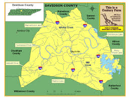 Tennessee City Map by Davidson County Tennessee Century Farms