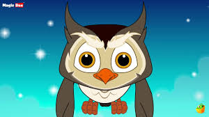 big eyed owl english nursery rhymes cartoon animated rhymes