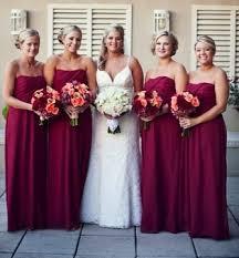 maroon dresses for wedding bridesmaid dresses maroon
