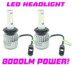 nissan micra headlight bulb h7 cob led headlight bulbs kit canbus 100w for nissan almera tino