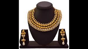 ethnic necklace design images Ethnic one gram gold necklace set designs jpg