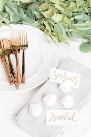 diy geometric snowball place card holders sugar and charm