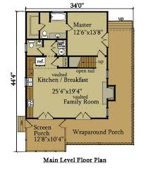 cabin floorplan 2 bedroom cabin plan with covered porch river cabin