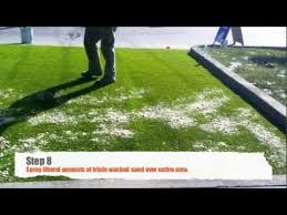 How To Build A Putting Green In My Backyard Diy Artificial Grass Installation On Concrete Youtube