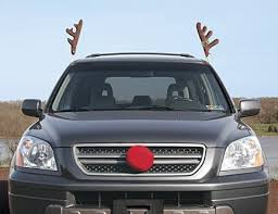 car antlers ahhh it are you fuckin kidding me reindeer car antlers