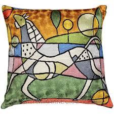 Modern Cushions For Sofas Picasso City Cushion Silk Throw Pillow Covers Sofa Cushions