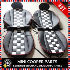 housse siege mini cooper marque nouveau importé pu matériau bord checker raceway