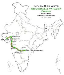 map of rajkot rajkot secunderabad express wikiwand