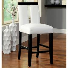 furniture of america lumina two tone counter height chair set of