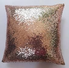 copper sequin pillow sparkly pillow festive pillow sequin