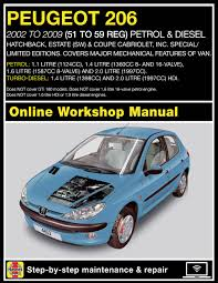 peugeot 206 turbo haynes online peugeot 206 owners workshop manual