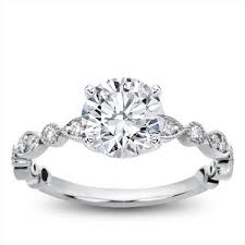 leaf engagement ring vintage leaf diamond engagement setting r2994