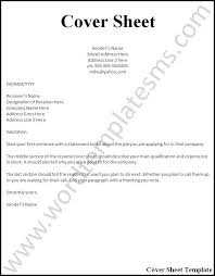 example of a cover sheet for resume 20 example cover letter and