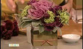 How To Make Flower Arra Video How To Make A Kale Flower Arrangement Martha Stewart