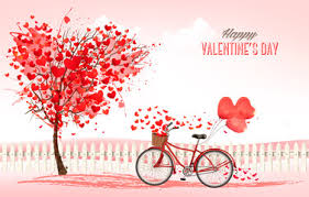 what to buy for s day s day background with a heart shaped trees and a bicycle