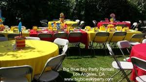 party rental chairs and tables torrance party rentals rent party chairs tables big blue sky