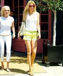 tolanda foster clothes brandi glanville highlights her long slender limbs in tiny shorts