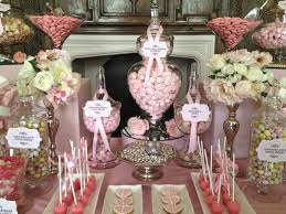Pink Table L Wedding Buffet In Vintage Pink Buffets L Sweetie