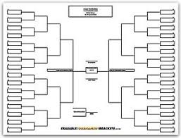 Blind Chart 22 X 34 64 Player Single Elimination Tournament Bracket Chart