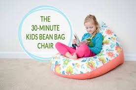 comfortable vintage photo then kids at a birthday diy sew a kids bean bag chair in 30 minutes project nursery
