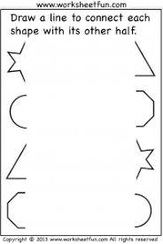 preschool u2013 connect other half free printable worksheets