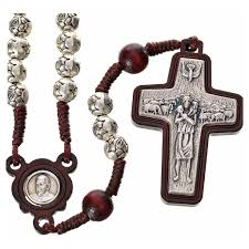 pope francis rosary rosary in metal and wood pope francis online sales